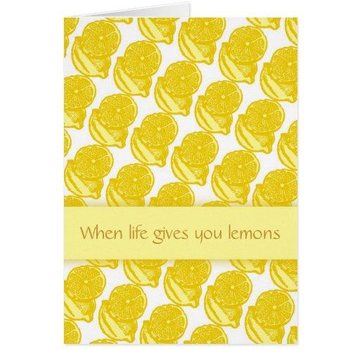 Tarjeta de encargo del limón