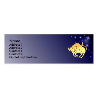 Tarjeta de encargo del perfil de la muestra del plantilla de tarjeta personal