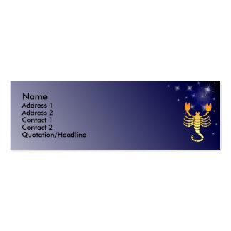 Tarjeta de encargo del perfil de la muestra del tarjeta personal