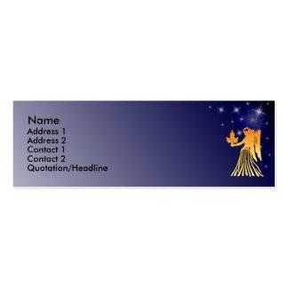 Tarjeta de encargo del perfil de la muestra del tarjeta de visita