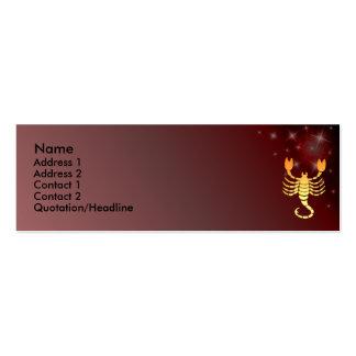 Tarjeta de encargo del perfil de la muestra del tarjetas de visita mini