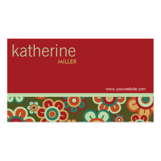 Tarjeta de encargo del perfil de la plantilla de tarjetas de visita