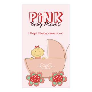 tarjeta de encargo del perfil del cochecito de niñ