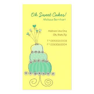 Tarjeta de encargo del perfil del pastel de bodas  tarjetas de negocios