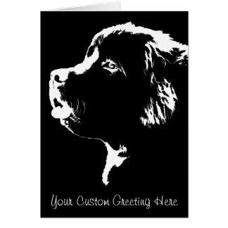 Tarjeta de encargo del perro de Terranova de la ta