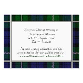 Tarjeta de encargo del recinto del boda tarjeta de visita