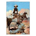 Tarjeta de encargo del vaquero de la ley y orden