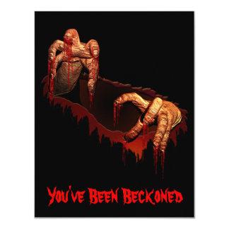 """Tarjeta de encargo del zombi de Halloween de la Invitación 4.25"""" X 5.5"""""""