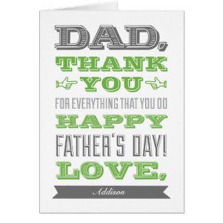 Tarjeta de encargo feliz del día de padre