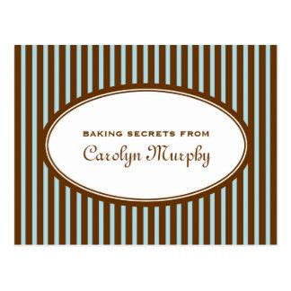 Tarjeta de encargo marrón azul de la receta del pe tarjeta postal