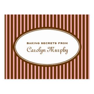 Tarjeta de encargo marrón rosada de la receta del  tarjetas postales