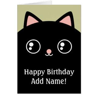 Tarjeta de encargo negra del feliz cumpleaños de l
