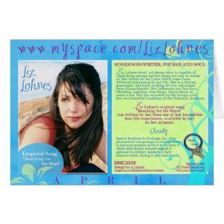 Tarjeta de encargo ofrecida LOHNES de LIZ en abril
