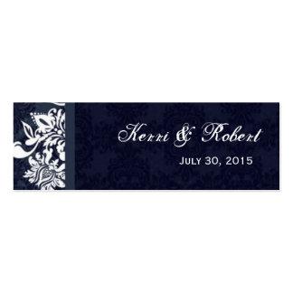 Tarjeta de etiqueta azul de medianoche del favor d tarjetas de visita mini