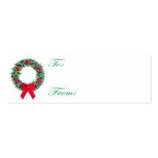 Tarjeta de etiqueta del navidad de la guirnalda tarjetas de visita