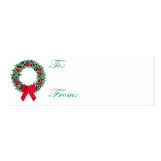 Tarjeta de etiqueta del navidad de la guirnalda plantillas de tarjetas personales