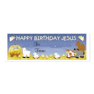 Tarjeta de etiqueta del regalo de Jesús del feliz Tarjetas De Visita Mini