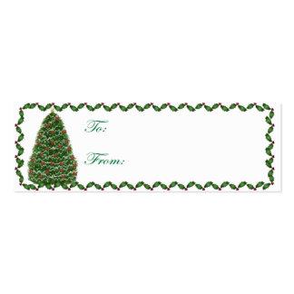 Tarjeta de etiqueta del regalo del árbol de navida plantillas de tarjetas de visita