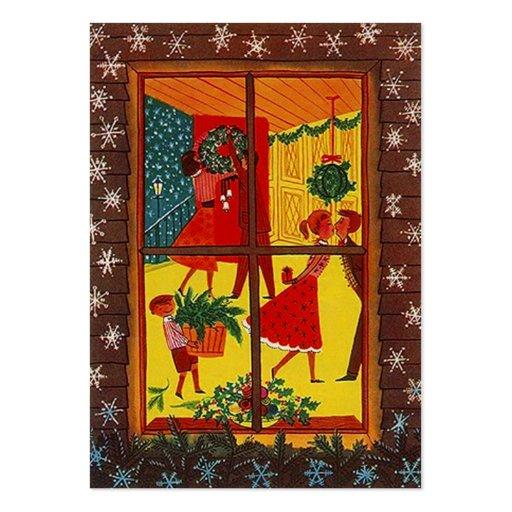 Tarjeta de etiqueta retra del regalo de la decorac plantilla de tarjeta de negocio