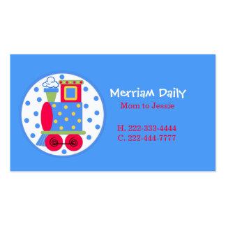 Tarjeta de fecha azul del juego de la mamá del tre tarjeta de visita