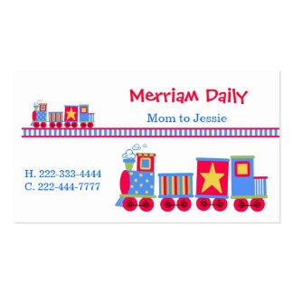 Tarjeta de fecha del juego de la mamá del tren tarjetas de negocios