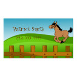 Tarjeta de fecha del juego del caballo del dibujo  plantilla de tarjeta personal