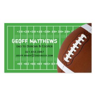 Tarjeta de fecha del juego del campo de fútbol tarjeta personal
