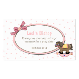 Tarjeta de fecha dulce del juego de la niña tarjetas de visita