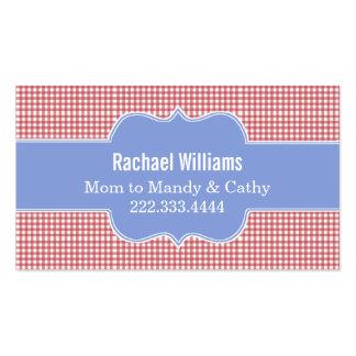 Tarjeta de fecha roja y blanca elegante del juego tarjetas de visita