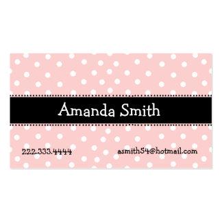 Tarjeta de fecha rosada blanca y negra del juego plantilla de tarjeta de visita