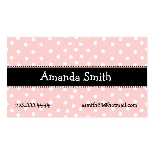 Tarjeta de fecha rosada, blanca, y negra del juego tarjetas de visita