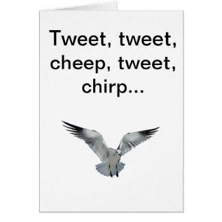 Tarjeta de felicitación a/desde pájaro