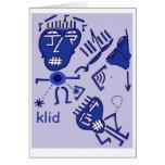 tarjeta de felicitación abstracta