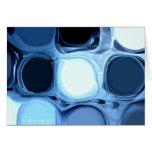 Tarjeta de felicitación abstracta azul