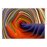 Tarjeta de felicitación adaptable abstracta psicod
