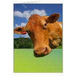 Tarjeta de felicitación adaptable - cara de la vac