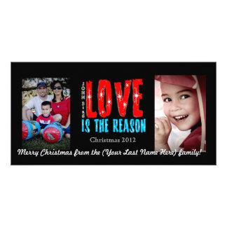Tarjeta de felicitación adaptable de la foto del d tarjeta fotografica