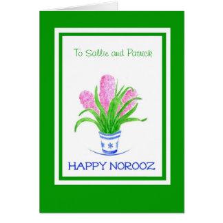 Tarjeta de felicitación adaptable de Norooz -