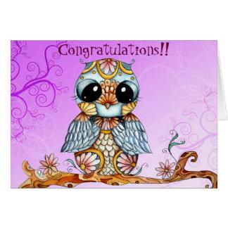 Tarjeta de felicitación adaptable del búho