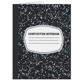 Tarjeta de felicitación adaptable del cuaderno de