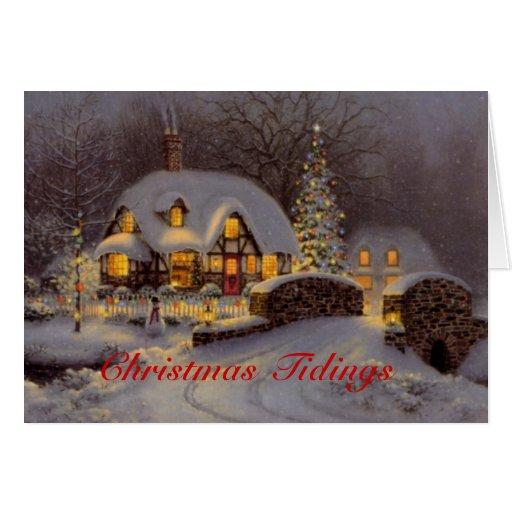 Tarjeta de felicitación adornada del navidad de la