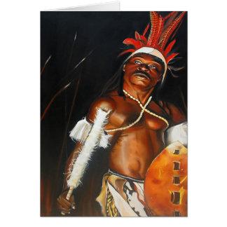 Tarjeta de felicitación africana tribal del bailar