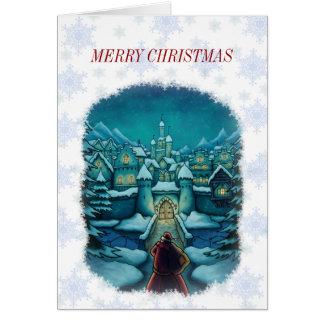 tarjeta de felicitación agradable de santa