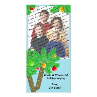 Tarjeta de felicitación alegre de la foto de los á tarjeta personal