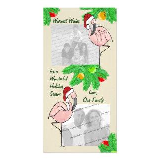 Tarjeta de felicitación alegre de la foto de los f plantilla para tarjeta de foto