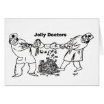 Tarjeta de felicitación alegre de los doctores
