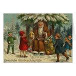 Tarjeta de felicitación alemana del navidad del Vi