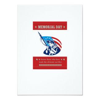 Tarjeta de felicitación americana del poster del invitación