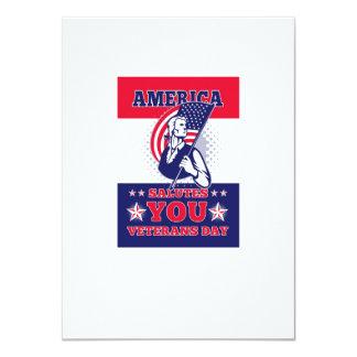 Tarjeta de felicitación americana del poster del anuncios