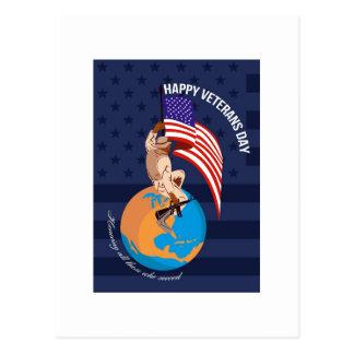 Tarjeta de felicitación americana moderna del día  tarjeta postal